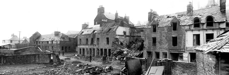 Bomb Damage Bank Row